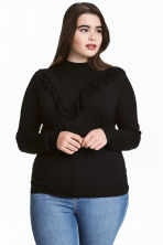 H&M+ Fine-knit jumper - Black - Ladies | H&M CN 1