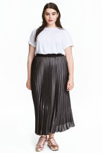 H&M+ Pleated skirt - Black/Glitter - Ladies | H&M CN 1