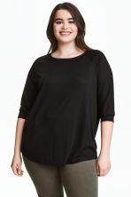 HM+ Top with raglan sleeves - Black - Ladies | H&M 1