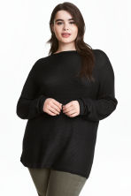 H&M+ Boat-neck jumper - Black - Ladies | H&M 1