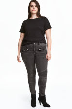 H&M+ Biker trousers - Dark grey denim - Ladies | H&M CA 1