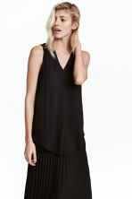 Crêpe blouse - Black - Ladies | H&M CA 1