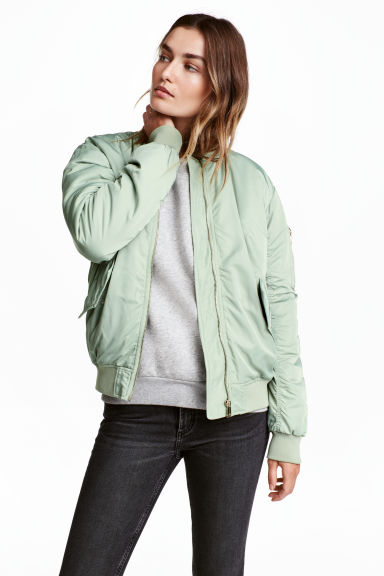 Bomber jacket - Mint green - Ladies | H&M CN 1