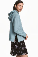 Hooded top - Dark turquoise - Ladies | H&M 1