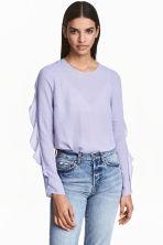 Blouse with frills - Lavender - Ladies | H&M 1