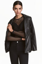 Mesh top - Black - Ladies | H&M CN 1