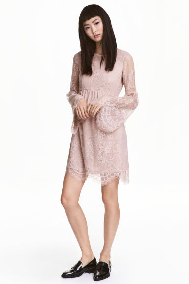 Lace dress - Vintage pink - Ladies | H&M CN