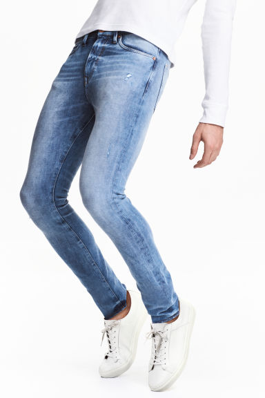 360 Tech Stretch Skinny Jeans - Bleu denim clair - HOMME | H&M CH