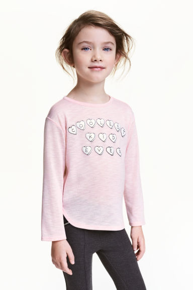 圖案套衫 - Light pink -  | H&M