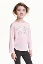 Jumper with a print motif - Light pink -  | H&M 1
