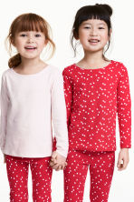2-pack long-sleeved tops - Red/Hearts - Kids | H&M CN 1