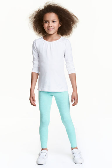Jersey leggings - Mint green -  | H&M 1