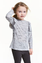 Top à volants - Gris chiné - ENFANT | H&M FR 1