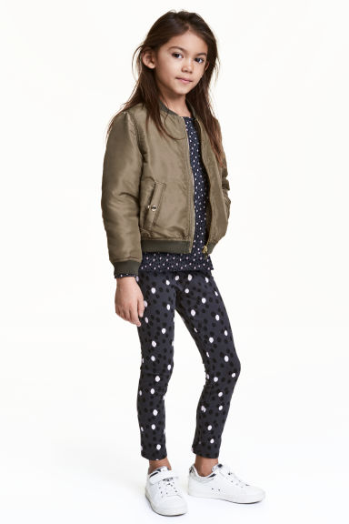 內搭褲 - Dark grey/Spotted -  | H&M 1