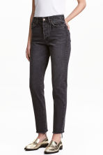 Vintage High Cropped Jeans - Black denim - Ladies | H&M 1