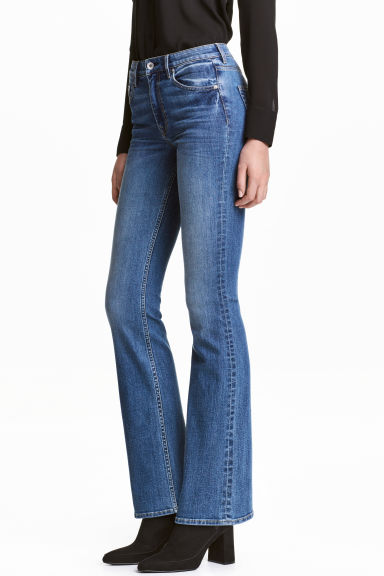Boot cut Regular Jeans - 牛仔蓝 - 女士 | H&M CN 1