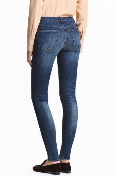 Shaping Skinny Regular Jeans - Dark denim blue/Washed -  | H&M CN 1