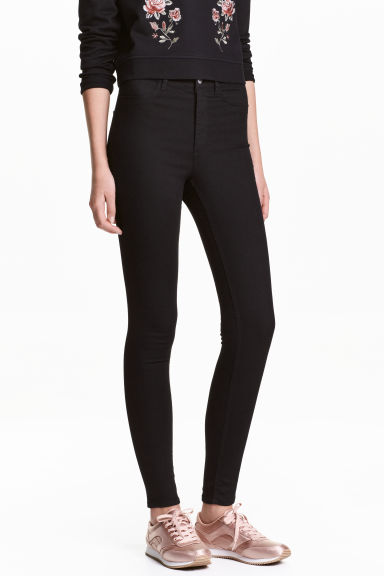 Super Skinny High Jeans - Black -  | H&M CN 1
