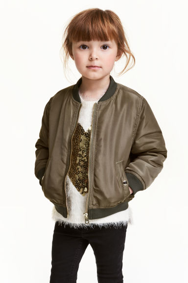 Bomber jacket - Khaki green - Kids | H&M