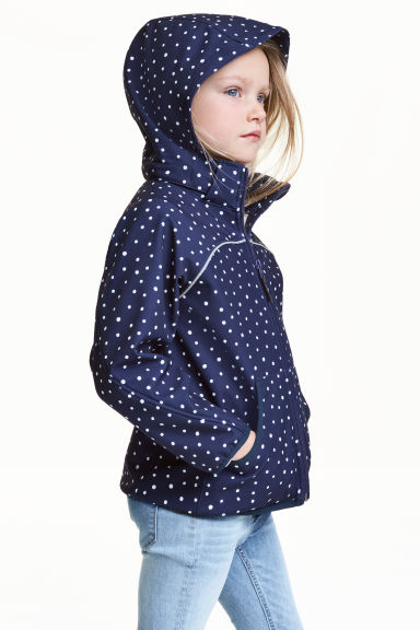 Softshell jacket - Dark blue/Spotted - Kids | H&M 1