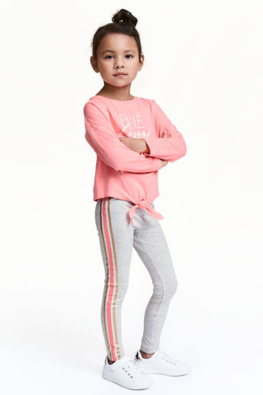 Printed leggings - Grey - Kids | H&M CN 1