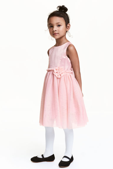 Tulle dress - Light pink - Kids | H&M CN 1