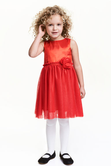 Tulle dress - Red - Kids | H&M CN 1