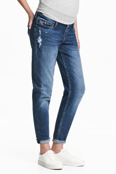 MAMA Boyfriend Trashed Jeans - Denim blue - Ladies | H&M 1