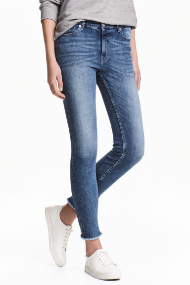 Slim Regular Ankle Jeans - Denimblauw - DAMES | H&M BE