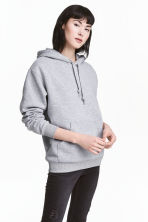 Hooded top - Grey marl - Ladies | H&M 1