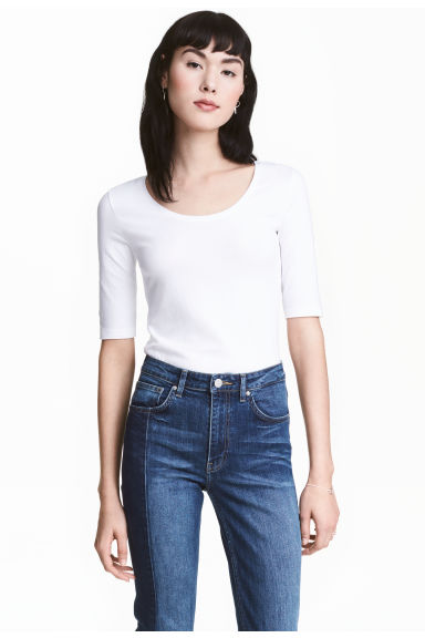 Jersey top - White -  | H&M CN 1