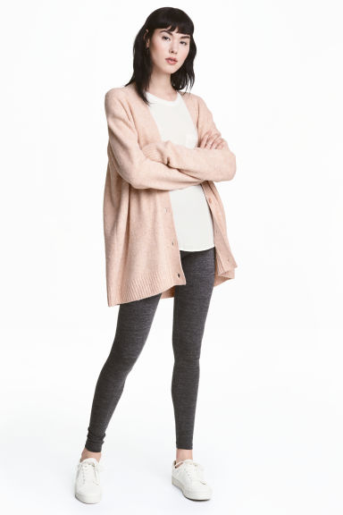 Jersey leggings - Dark grey marl - Ladies | H&M CN 1