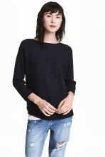 Pullover in maglia a coste - Blu scuro - DONNA | H&M IT 1