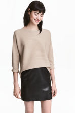 Rib-knit jumper - Light beige - Ladies | H&M 1