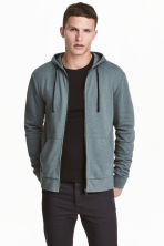 Hooded jacket - Grey green - Men | H&M CN 1