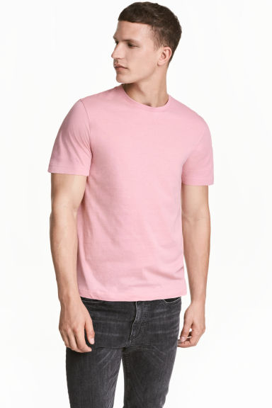 Round-neck T-shirt Regular fit - Pink - Men | H&M 1