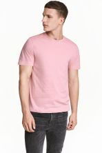Round-neck T-shirt Regular fit - Pink - Men | H&M CN 1