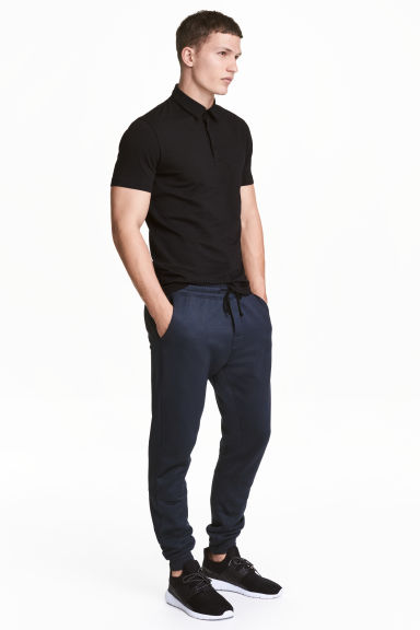 Pantaloni in acetato - Blu scuro - UOMO | H&M IT