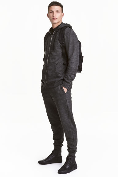 Sweatpants - Black marl - Men | H&M 1