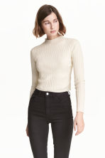 Ribbed jumper - Natural white - Ladies | H&M CN 1