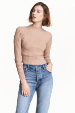 Ribbed jumper - Powder beige - Ladies | H&M 1