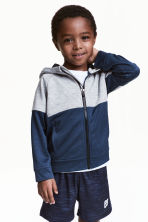Hooded sports jacket - Dark blue - Kids | H&M 1