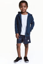 Sports shorts - Dark blue marl -  | H&M 1