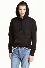 Hooded top - Black -  | H&M CN 1