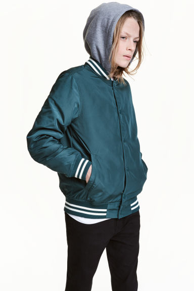 Lined nylon jacket - Petrol - Kids | H&M 1