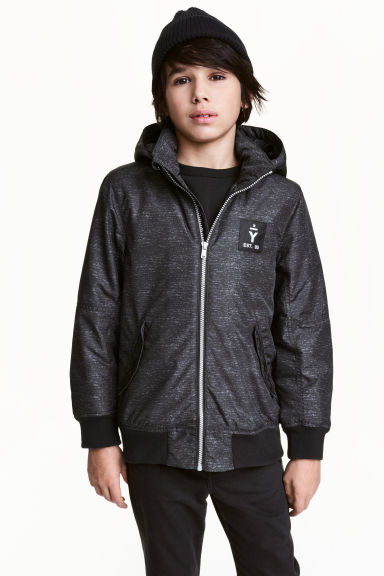 Padded jacket - Dark grey - Kids | H&M CN 1