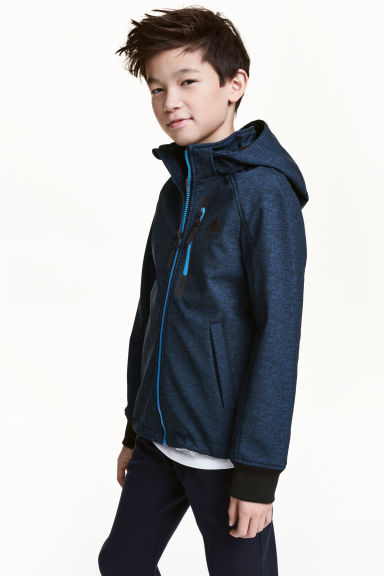 Softshell jacket - Dark blue marl - Kids | H&M 1
