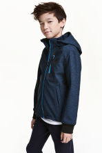 Softshell jacket - Dark blue marl - Kids | H&M CN 1