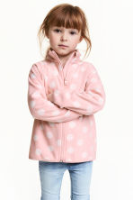 Fleece jacket - Light pink/Spotted - Kids | H&M CN 1