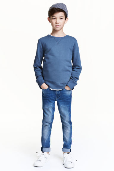 Superstretch Skinny fit Jeans - Denim bleu moyen - ENFANT | H&M FR